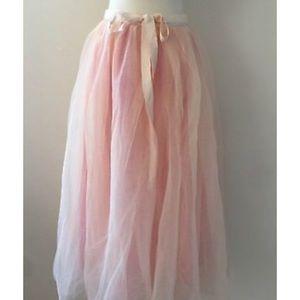 NWT JCrew Tulle Ball Skirt in Pale Buff (00)